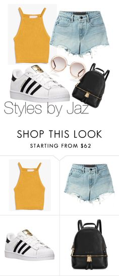 """Adidas and crop tops..."" by harrisjazmin on Polyvore featuring Alexander Wang, adidas, Michael Kors, Chloé, women's clothing, women, female, woman, misses and juniors"