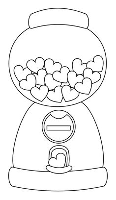 free printable template for gumball machine i am using this for multiplication fact families use garage sale circle stickers as the gumballs ea - Printable Colouring Page