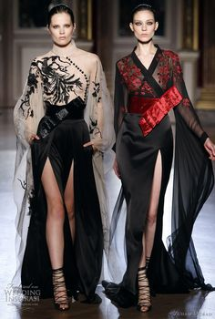 Zuhair Murad F/W 2011/2012 Oriental-inspired Dress with Floor-length Sleeves and Sensual Slits