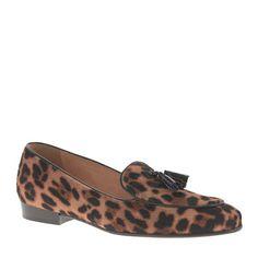 J.Crew - Collection Biella calf hair tassel loafers