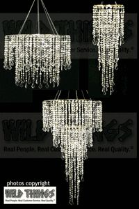 This amazing chandelier set is huge and can be used different ways for different applications!  $169.99