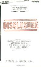 The Disclosure Project opened my eyes to the Truth. Dr. Steven Greer is a true pioneer in the ET/UFO reality.