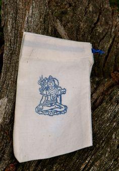 Prayer Bag - Shiva - a bag for prayer beads and meditation objects