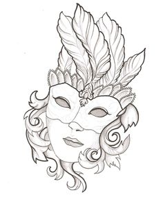 drawings of mardi gras mask Colouring Pages, Coloring Books, Drawing Sketches, Art Drawings, Mask Drawing, Drawing Room, Venice Mask, Printable Adult Coloring Pages, Venetian Masks