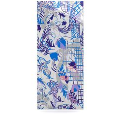 """Gabriela Fuente """"She"""" Blue White Luxe Rectangle Panel from KESS InHouse #wall #art #house #interiors #painting #gift #trend"""