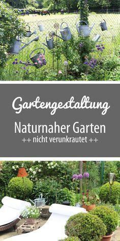 Gartengestaltung: Ein Naturnaher Garten   Nicht Verunkrautet   Mit  Sitzplätzen Und Gartenteich