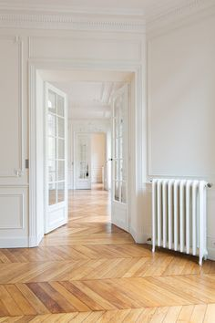 Adding Architectural Interest: A Gallery of Interior French Door Styles & Ideas – apartment House Design, House, Interior, Home, House Inspiration, House Layouts, French Doors Interior, French Apartment, Parisian Apartment