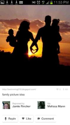 Family picture idea-except all of us side by side making the heart between each person