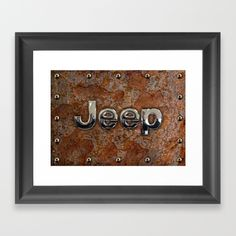 Rustic Jeep FRAMED ART PRINT #framed #framedartprint #artprint #digitalart #digitalpainting #artdesign #rustic #jeep #steampunk #logo #typograph #wrangler #landrover #car #abstract #volkswagen #vehicle #autocar #suv #offroad #rangerover #4x4