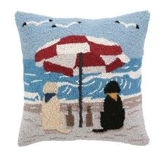 Peking Handicraft  D.L. Rhein Beach Labs Hook Pillow