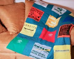 Quilted Tee Shirt Memory Blanket | FaveCrafts.com