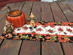 Fall Table Runner Fall Quilted Table Runner by PatsPassionQuilteds