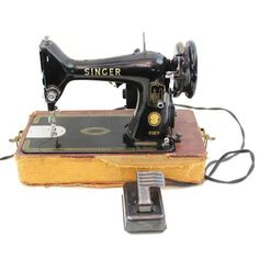 For Sale: Vintage Singer 99K Portable Featherweight Electric Sewing Machine RF 5-8 Simanco