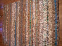 5x7 plarn (plastic bag yarn) rug! About 3500 bags that will never end up in a landfill!