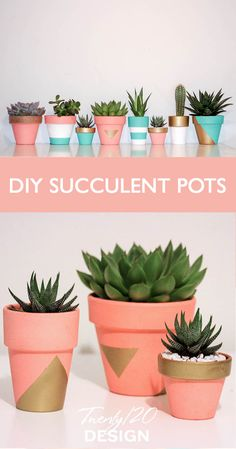 Twenty 20 Design makes the cutest pots for your apartment, desk, or to give as a gift! - New Deko Sites