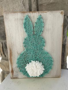Similar Items like Fluffly Bunny String Art on . Similar Items Like Fluffly Bunny String Art on Etsy String Art Templates, String Art Patterns, Crafts For Kids, Arts And Crafts, Diy Crafts, Easter Crafts For Adults, Spring Crafts, Holiday Crafts, Hilograma Ideas