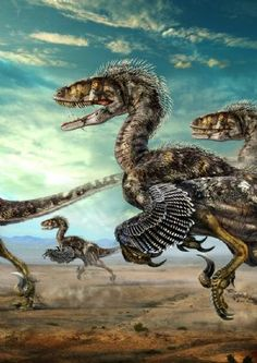 deinonychus -These are some of the Raptors to be afraid of. They are about waist high, and unlike the Utah Raptor they probably hunted in packs. These are perhaps the ultimate killing machines.