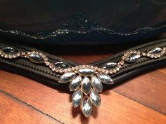 Unique Teardrop Gem Bling Browband for Horse Bridle by OkoKonia, $175.00 I can make this one in your horse's size in crimson red or gun metal steel.