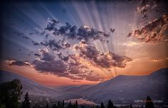 The smoke from the fires made for a stunning sunset last night above Nelson, British Columbia. Adrian Wagner Studio