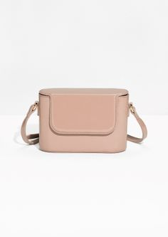 & Other Stories image 1 of Patent Leather Box Bag  in Cream