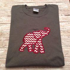 Alabama Crimson Tide Appliqued Elephant Long Sleeve T-shirt