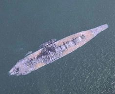 Yamato just before operation Ten-go taken by B29recon plane.