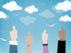 Four Hands Giving A Thumbs Up Stock Illustration 478162335