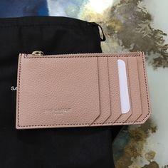 07a1b6c12f6 Saint Laurent YSL Zip Around Pouch Card Case Pink Brand new  amp  Authentic  NO TRADE