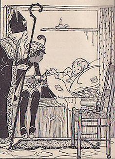 Het Boek van St. Nicolaas. Van S. Maathuis-Ilcken, (1855-?) en Henr. Dietz, (1857-1939). Tekeningen :  M. Midderigh-Bokhorst, (1880-1972) en Sijtje Aafjes, (1893-1972). Gouda - G. B. Van Goor Zonen, 1920