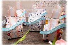 Kleine Handtaschen für Mini Lebkuchen mit DSP Weihnachtsfreuden Diy Paper, Paper Crafts, Heartfelt Creations, Training Center, Mini, Stampin Up, Craft Supplies, Chocolate Candies, Ginger Beard