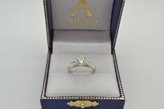Six-Prong Platinum Solitaire Engagement Ring Setting - Allurez.com