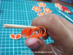 Tutorials on how to make a quilled Malaysian flower