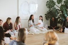 New moon gatherings may be a major trend of the modern age, but they have a rich legacy. Here, experts tell the story of women's circles past, while sharing how their wellness benefits could impact our future. Moon Circle, Yoga Studio Design, Circle Crafts, Well And Good, Divine Feminine, New Moon, Dream Life, Wellness, Ancient Greece