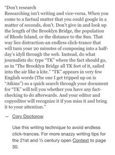 Writing advice TK research blank fill in Creative Writing Tips, Book Writing Tips, Writing Resources, Writing Help, Writing Skills, Writing Ideas, Writing Quotes, The Words, Mbti