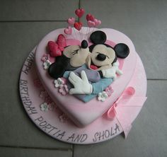 Mickey and Minnie in love ! by Rachel's Cakes, via Flickr