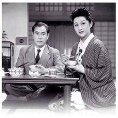 "Shin Saburi and Michiyo Kogure in ""Flavor of Green Tea Over Rice (お茶漬の味)"" directed by Yasujiro Ozu Nine Movie, Yasujiro Ozu, Just Good Friends, Japanese Rice, Top Videos, Female Friends, Getting Drunk, Best Husband, Upcoming Movies"