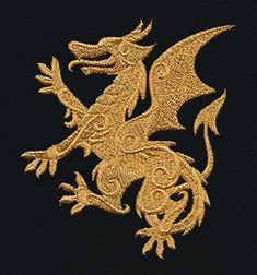 Gilded Heraldry - Dragon - Thread List   Urban Threads: Unique and Awesome Embroidery Designs