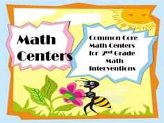 Math Centers based on 2nd grade, based on Common Core Standards, and tier one interventions.