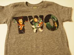 Toy Story Characters Shirt Woody Rex Jessie Buzz Lightyear Toy Story Birthday tee Organic Blend. $26.00, via Etsy.