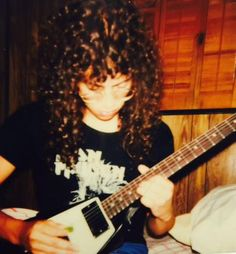 Flashback Friday!! Kirk Hammett - This was taken in 1983. Practicing Metallica songs before I flew out to join the band!