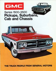 1972 GMC Series 1500-3500 Pickup Models Poster