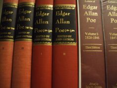 All three editions of The Letters of Edgar Allan Poe...I need this in my library. The person who owns these is very lucky!