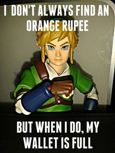 """yep. I was rerunning the Goron Mines in TP and I was like, """"yus there is a purple rupee right here...."""" and my wallet is full. And it is not like I can go and buy a bunch of crud because I didn't have the bow yet and it's not like any awesome stores were open yet. :/"""