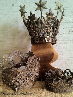 "I'm experimenting with rusty finishes on my crowns.             Some of my finishes are easy to explain, like the ""Old World"" finish.  Howev..."