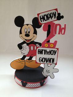 Mickey Mouse custom birthday party centerpiece