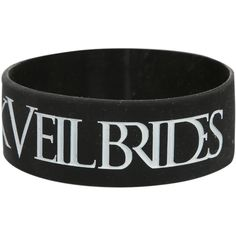 Black Veil Brides I (Heart) Rubber Bracelet | Hot Topic ($5.25) ❤ liked on Polyvore featuring jewelry, bracelets, black veil brides, bridal bangles, heart jewelry, bracelet jewelry, rubber bangles and black jewelry
