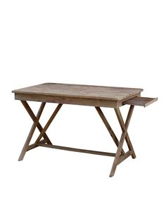 Reclaimed Desk by Bois et Cuir by CDI Intl at Gilt