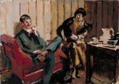 'The Little Tea Party: Nina Hamnett and Roald Kristian', Walter Richard Sickert, 1915–16 | Tate