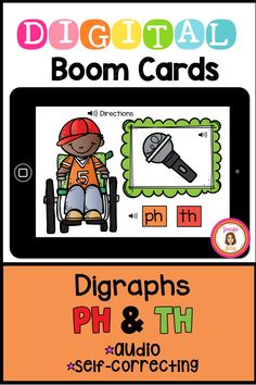 In this 20 card deck, students will look at the picture in the frame and select the correct digraph PH or TH. Audio directions and pronunciations are provided, including a reminder to listen for the digraph in the beginning, middle, and end of the words. Makes a great phonics center. Phonics Centers, Kindergarten Centers, Card Deck, Deck Of Cards, End Of The Word, Phonograms, Letter To Parents, Early Literacy, Google Classroom