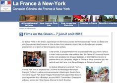 Films on the Green | Consulate of France in New York | http://www.consulfrance-newyork.org/Films-on-the-Green-7-juin-2-aout